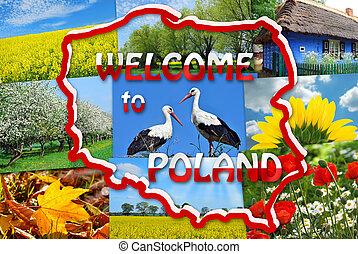 bem-vindo, para, polônia