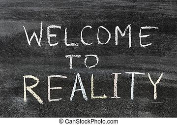 bem-vindo, para, realidade
