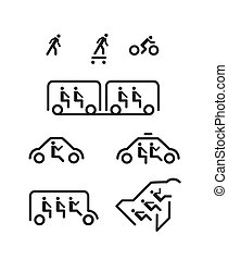 bemanna, käpp, transport, ikonen