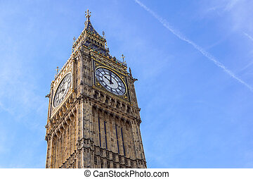 ben, elizabeth, pałac, zegarowa twarz, cielna, westminster, uk, wieża, londyn