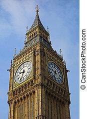 ben, elizabeth, palacio, reloj, grande, westminster, uk.,...