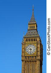 ben, elizabeth, zegar, cielna, westminster, wieża, london.