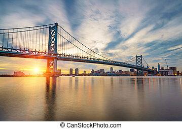 Ben Franklin Bridge in Philadelphia