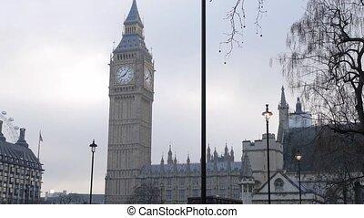 ben, grand, maisons, royaume-uni, parlement, londres