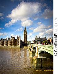 ben, grand, westminster pont