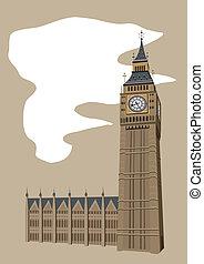 ben, grande, torre de reloj
