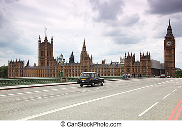 ben, reloj, grande, catedral de westminster, torre, london.