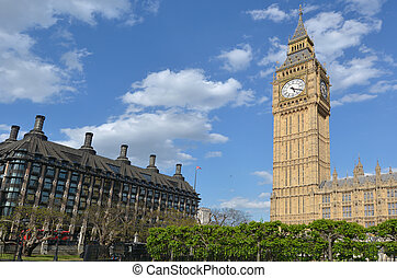 ben, zegar, cielna, londyn, uk, wieża