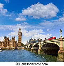 ben, zegar, cielna, tamiza, uk, londyn, wieża