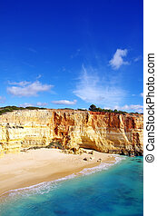 Benagil beach on atlantic coast, Algarve, Portugal