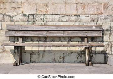 Bench against the wall
