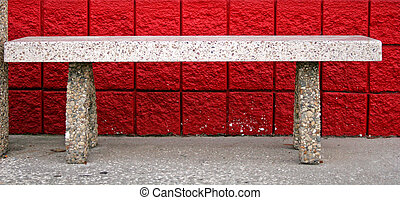 Bench and Red Brick
