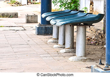 bench at bus stop