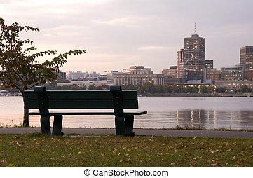 Bench at Charles River