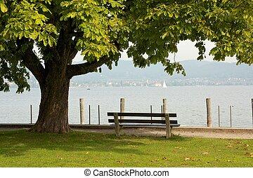 Bench at the lake 2