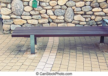 Bench at the park with nature ,Korea