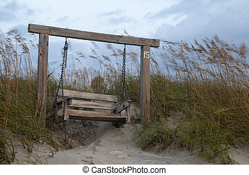 Bench at Tybee Island