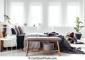 Bench by the bed