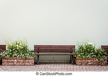 Bench by the house