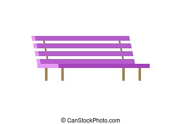 Bench Closeup Isolated Poster Vector Illustration