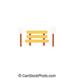 bench flat icon