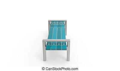 Bench rotates on white background