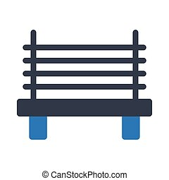 bench glyph color icon