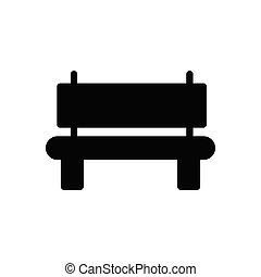 bench glyph flat icon