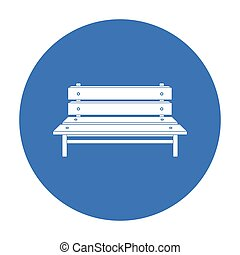 Bench icon in black style isolated on white background. Park symbol stock vector illustration.