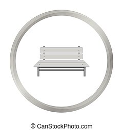Bench icon in monochrome style isolated on white background. Park symbol stock vector illustration.