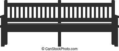 Park icon bench