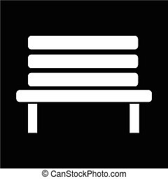 Bench icon vector illustration