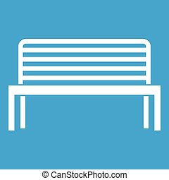 Bench icon white