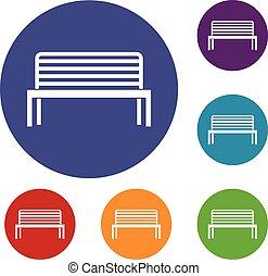 Bench icons set