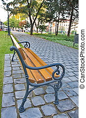 Bench in a green park