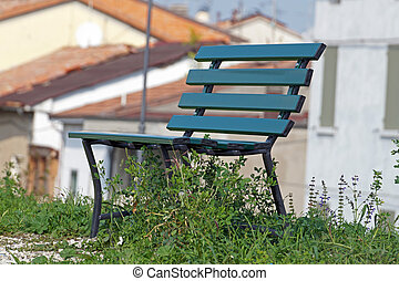bench in a Park on the lawn