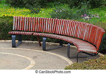 bench in a park  - Empty bench in a park