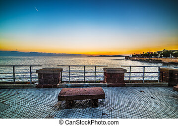 bench in Alghero seafront