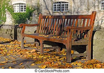 Bench in an autumn park