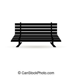 bench in black illustration