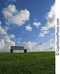 Bench in front of sky