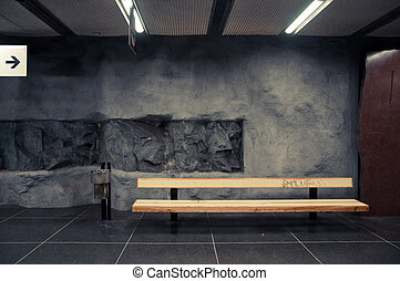 bench in subway station
