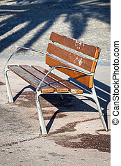 bench in the alley