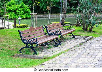 Bench in the garden
