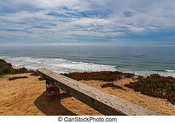 bench in the ocean