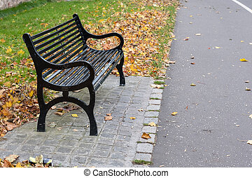 Bench in the park.