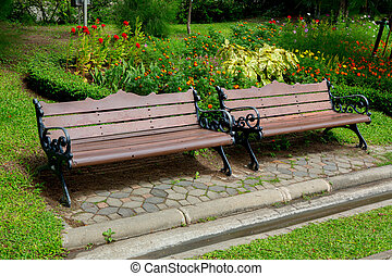 bench in the parkark