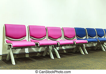 Bench in the terminal of airport