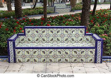 Bench in Valencia, Spain