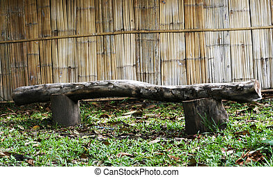 Bench made of old wood
